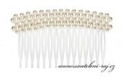 Zobrazit detail - Hřebínek s bílými perličkami