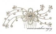 Zobrazit detail - Luxusní štrasový hřeben s květinou