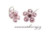 Zobrazit detail - Náušnice ve tvaru kytičky růžové
