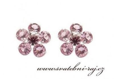 Růžové náušnice
