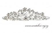 Zobrazit detail - Luxusní štrasová korunka čiré kamínky