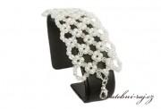 Zobrazit detail - Luxusní svatební náramek široký