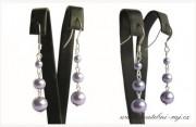 Zobrazit detail - Náušnice s fialovými perlami