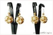 Zobrazit detail - Náušnice kuličky zlato-krémové barvy
