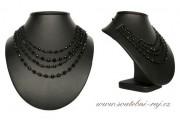 Ketlovaný náhrdelník s černými perlami