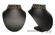 Zobrazit detail - Krásný náhrdelník černo-zlatý