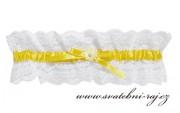 Zobrazit detail - Podvazek pro nevěstu se žlutou stužkou