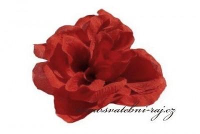 Červená textilní růže