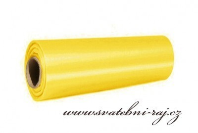Satén žlutý