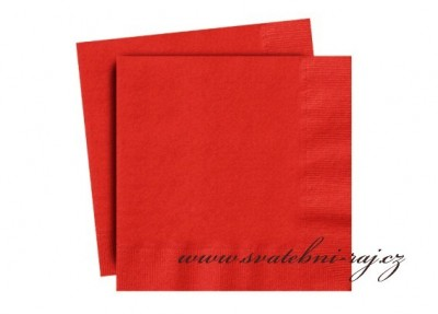 Červené ubrousky