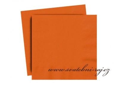 Oranžové ubrousky