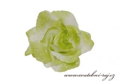 Textilní růže zelená