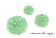 Pom Poms mint-green, průměr 20 cm