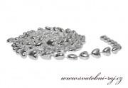 Zobrazit detail - Stříbrná girlanda ve tvaru srdíček