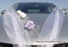 Ozdoba na automobil pěnové růže lila
