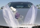 Ozdoba na automobil fialové růže