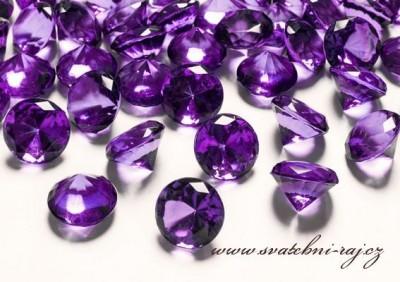 Diamanty fialové