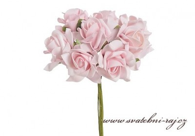 Růžová pěnová růžička