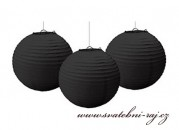 Zobrazit detail - Papírový lampion černý, průměr 40 cm