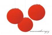 Dekorační koule červená, 20 cm průměr