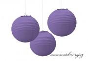 Lampion koule fialový, 40 cm průměr