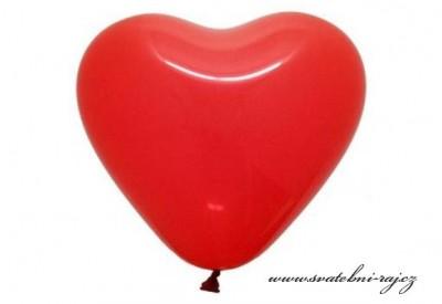 Balónky srdce červené