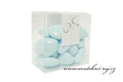 Modrá čokoládová srdíčka