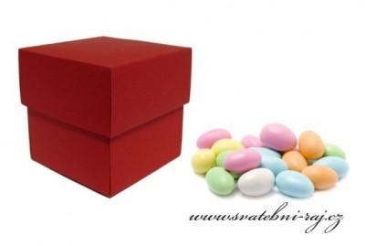 Krabička mandle červená