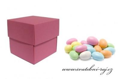 Krabička mandle růžová