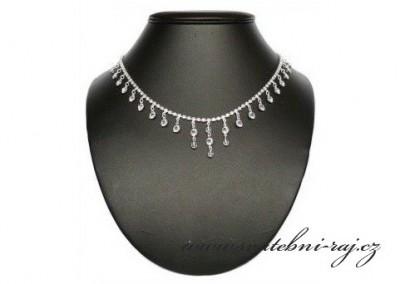 Štrasový náhrdelník