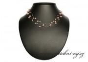 Perličkový náhrdelník starorůžový