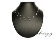 Starorůžový perličkový náhrdelník
