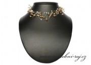 Zobrazit detail - Krásná pavučinka se zlatými perlami
