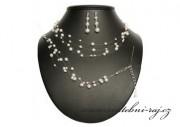 Luxusní souprava z bílých perel