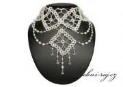 Zobrazit detail - Luxusní svatební náhrdelník pletený