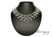 Luxusní náhrdelník s bílými perlami