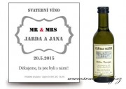Zobrazit detail - Svatební víno Mr and Mrs