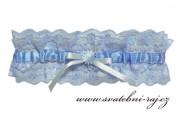 Zobrazit detail - Modrý svatební podvazek