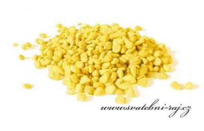 Dekorační drť žlutá