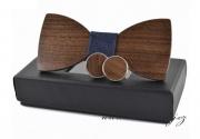 Zobrazit detail - Dřevěný motýlek s manžetovými knoflíčky