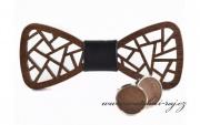 Zobrazit detail - Dřevěný motýlek a knoflíčky - sada