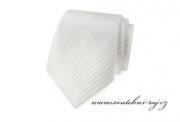 Zobrazit detail - Kravata bílá se vzorem