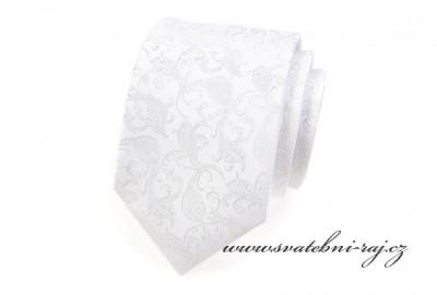 Kravata bílá se vzorem 8a505714c9