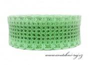 Natužená krajková stuha mint-green