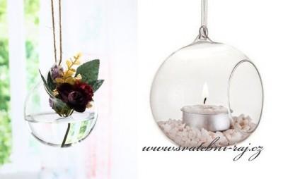 Skleněná dekorační koule
