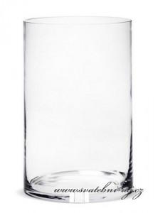Skleněná váza válec 20 x 45 cm