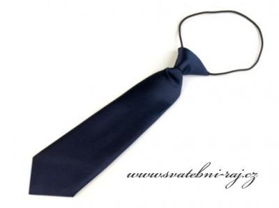Chlapecká kravata tmavě modrá