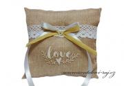 Zobrazit detail - Jutový polštářek s nápisem LOVE