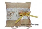 Zobrazit detail - Jutový polštářek s výsekem
