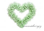 Zobrazit detail - Srdce z růží světlounce mint-green - 38 cm